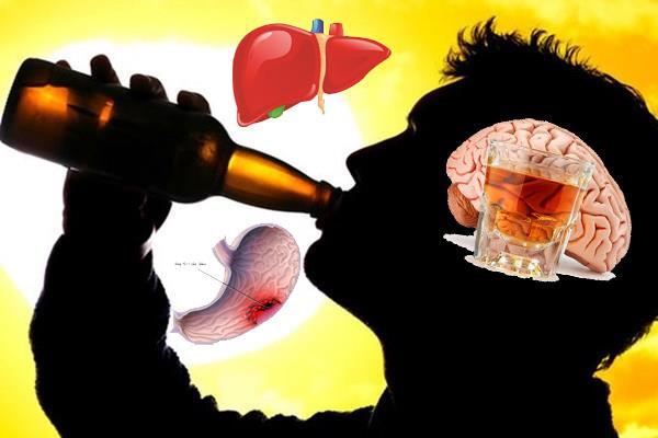 Rượu đi đến đâu, cơ thể bị hủy hoại tới đó